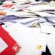 2014-12-18 08:58:28 AMSTERDAM - Kerstdrukte in een brievensorteercentrum van PostNL. Hoewel het aantal kerst- en nieuwjaarskaarten dat via de post wordt verstuurd blijft teruglopen, worden er in december nog miljoenen kaarten verwerkt. ANP KOEN VAN WEEL